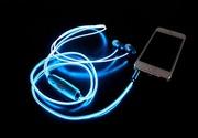 Cветящиеся наушники Glow с лазерным EL свечение
